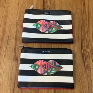 Sephora Cosmetic Case Bundle of 2